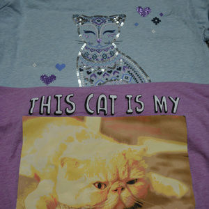 Children's Place Long Sleeve Shirts with cats XXL